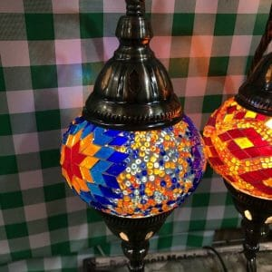 Lamps Blue Table Moroccan Lamp bedside lamps