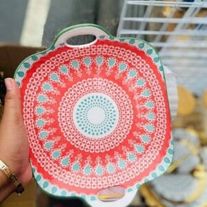 Ceramic Plates Square Serving Plate with Handle ceramic plate